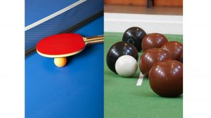 Table Tennis and Bowls